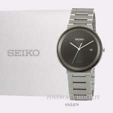 Authentic Seiko Men's Solar Stainless Steel 40mm Dress Watch SNE479