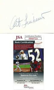Art-Linkletter-Signed-Authentic-Autographed-3x5-Cream-Index-Card-JSA-FF83723