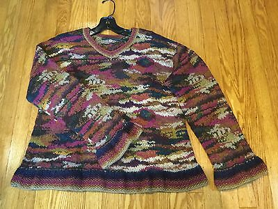 Peruvian Connection Alpaca Wool Pullover Sweater Top Sz M-Woman's.       *1999
