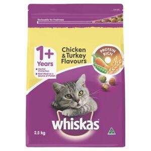 Whiskas 1+ Years Chicken & Turkey Dry Cat Food 2.5kg