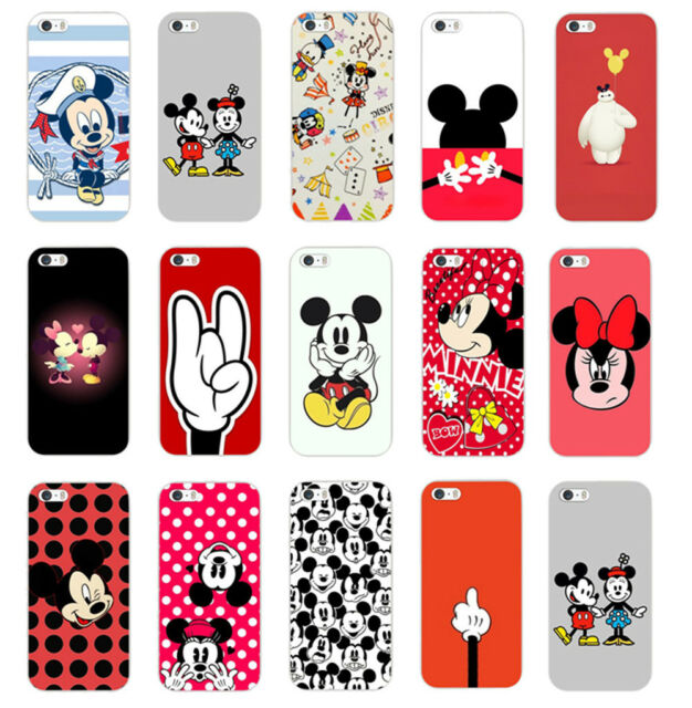 Various Lovely Cartoon pattern back case Cover Protector For iphone 4S 5/5S 5C 6