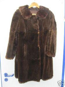 Damen Pelzjacke Persianer Jacke Mantel Pelzmantel braun