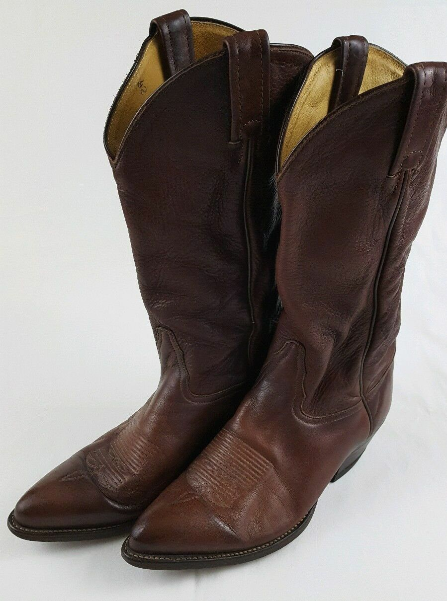 TONY LAMA 6155 Mens Cowboy   Western Brown Leather Slip On Boots Size 8.5 D