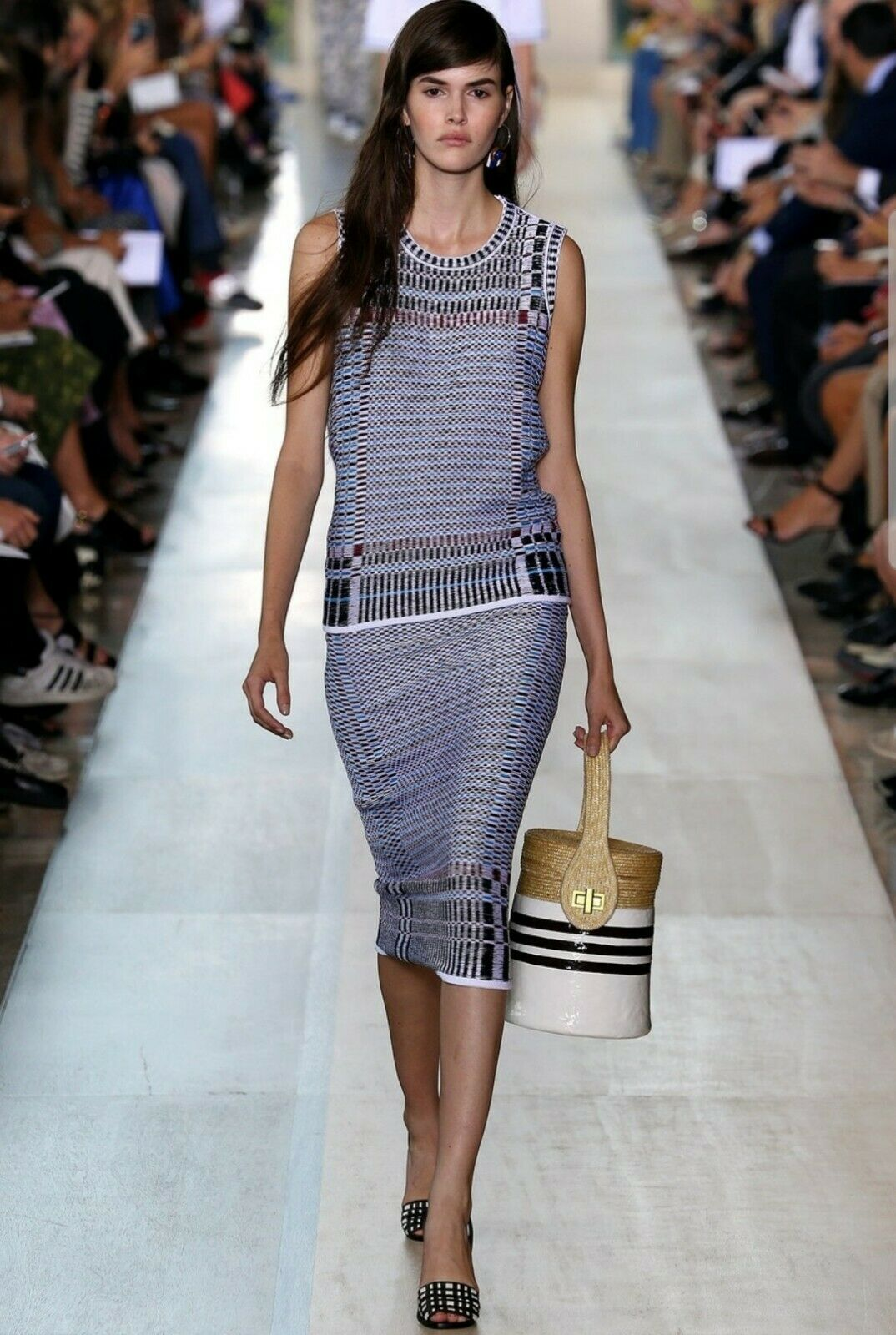 TORY BURCH Blau Jacquard Basket Weave Skirt Größe XS,  A Runway Collection,  350