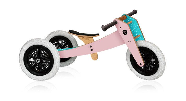 Ausstellungsstück Rosa - Wishbone Bike 3in1  Laufrad und Dreirad 1 bis 5 Jahre