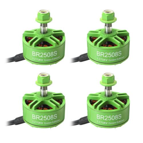 4X racerstar 2508 BR2508S Green Edition 1275 KV 4-6 S Brushless Motor for FPV