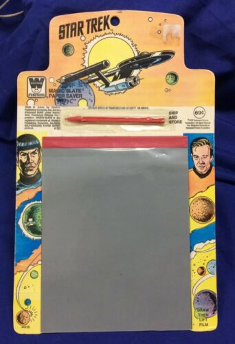 "1979 Whitman ""Star Trek"" Magic Slate unused Spock Kirk original series"