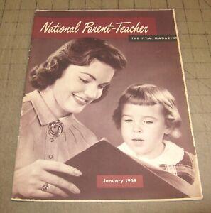 NATIONAL PARENT-TEACHER PTA (Jan 1958) Good+ Condition Magazine