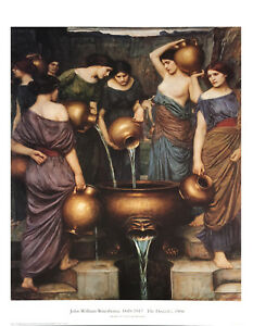 The Danaïdes   by John William Waterhouse  Giclee Canvas Print Repro