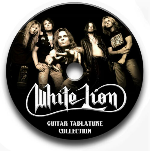 WHITE LION GLAM HEAVY METAL ROCK GUITAR TAB TABLATURE SONG BOOK SOFTWARE CD