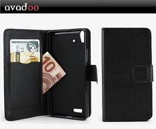 avadoo® Medion Life P5004 Flip Case Schutz Tasche Magnet Schwarz
