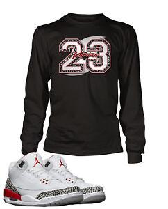 e780b8a7137 Tee Shirt to Match Air Jordan 3 Katrina Give Back Shoe Mens Graphic ...