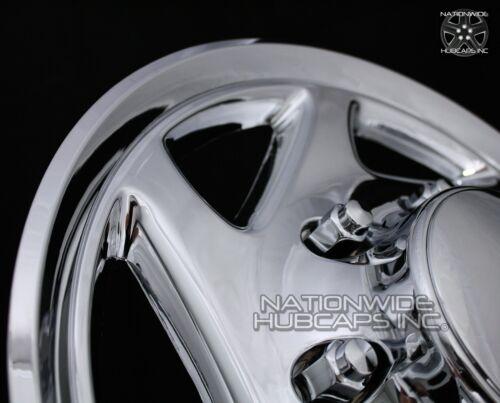 """4 CHROME E350 E450 Econoline Van 16/"""" Full Wheel Covers Hub Caps Rim Simulators"""