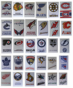 NHL-Hockey-Decal-Stickers-2-Stickers-per-card-Choose-from-30-Teams