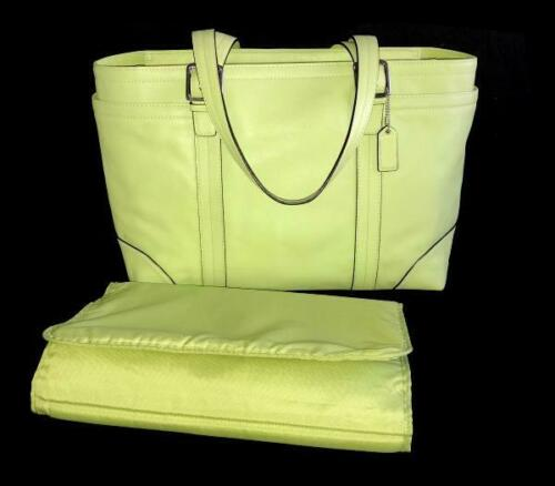 NICE Coach Lime Green Leather XL Multi Baby Diaper