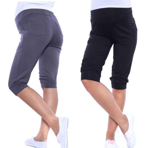 MijaCulture Maternity Cropped Trousers Jeans Shorts Capri Pants 4037