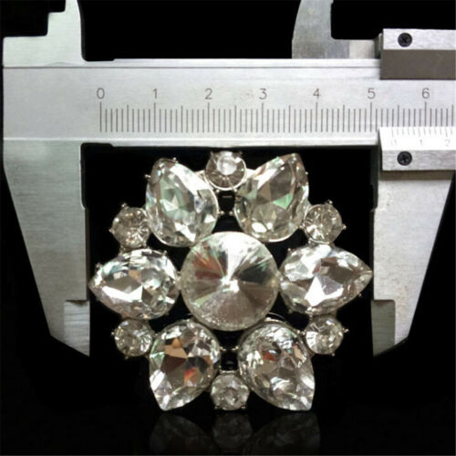 1PC Crystal Rhinestones Shoe Clips Women Bridal Prom Shoes Buckle Decor OXDE