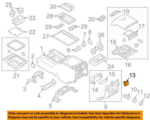 FORD OEM Front Center Console-Auxiliary Jack BC3Z19N236A
