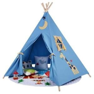 Image is loading Children-039-s-Blue-Kids-Teepee-Play-tent-  sc 1 st  eBay & Childrenu0027s Blue Kids Teepee. Play tent Playhouse wigwam Tipi Tepee ...