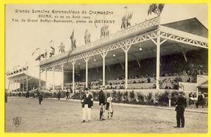 cpa-AVIATION-1909-REIMS-BETHENY-Semaine-Aeronautique-GRAND-BUFFET-RESTAURANT