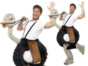 AVESTRUZ-Disfraz-montable-Adulto-EMU-Animales-disfraces-Novedad-Disfraz