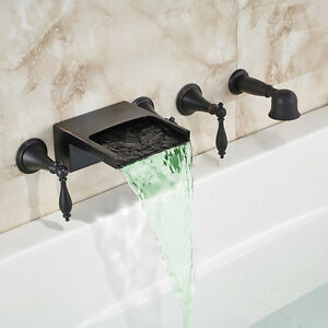 Led Colors Oil Rubbed Bronze Waterfall Spout Bathtub