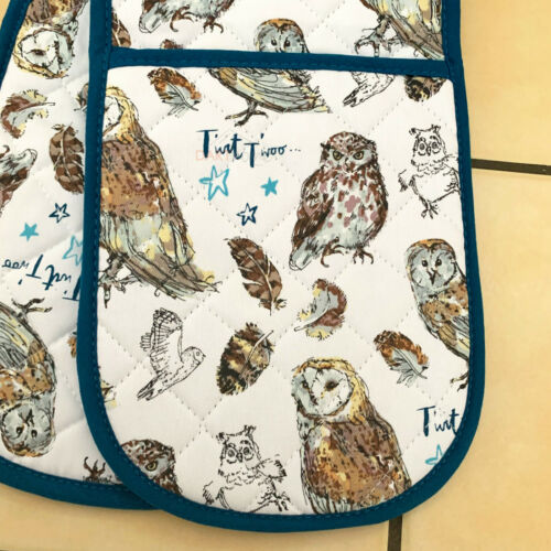 Ulster Weavers Night Owl Kitchen Cotton Hand Dry Tea Towel Double Oven Gloves