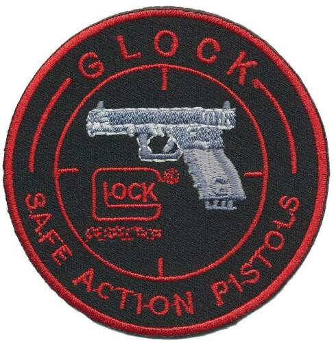 Glock Iron On tessuto ricamate-Safe Action sex 01