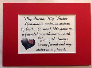 Sister in law god gave my friend heart stepsister friendship verses image is loading sister in law god gave my friend heart freerunsca Image collections