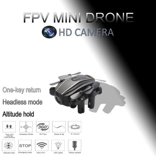 MINI Foldable Wifi FPV RC Quadcopter Drone with HD Camera Tello Clone Toys