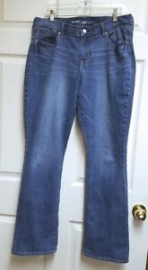 Old-Navy-Curvy-Profile-Mid-Rise-Boot-Cut-Blue-Jeans-Womens-Size-14-No-Tag