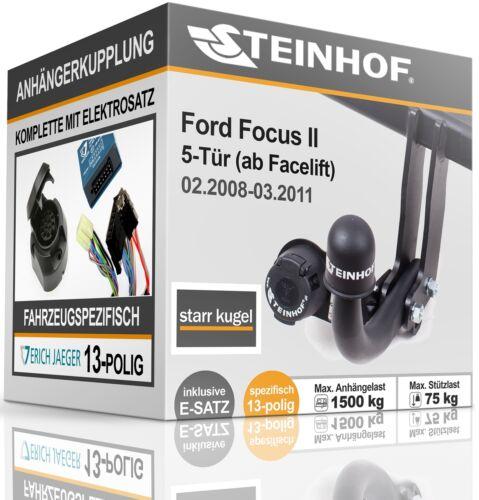 AHK fest Für Ford FOCUS II 5-Tür 02.2008-03.2011+E-SATZ 13p SPEZIFISCH