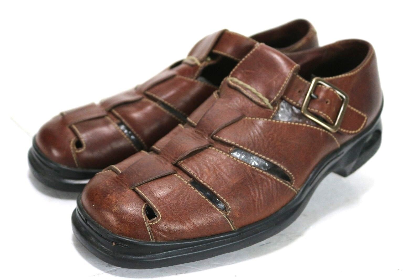 Bragano by Cole Haan  109 Men's Fisherman Sandals Size 8 Brown Leather