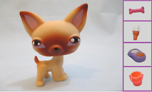 Littlest-Pet-Shop-Dog-Puppy-Chihuahua-Tan-Brown-1-and-Free-Accessory
