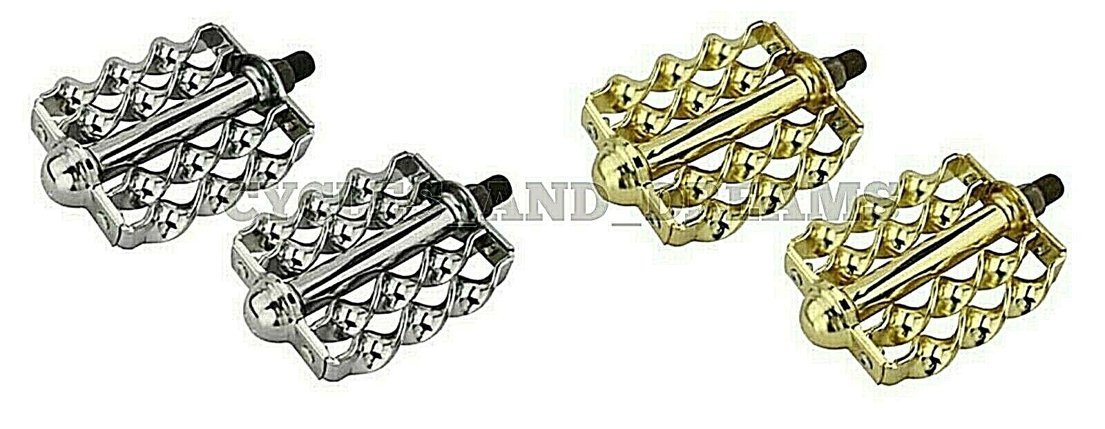 Original Lowrider Bike Double Flat Twisted Bicycle Pedals 1 2  2 colors