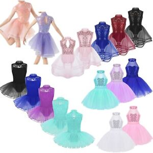 Girls-Sequins-Ballet-Dance-Leotard-Dress-Gymnastics-Skating-Competition-Costume