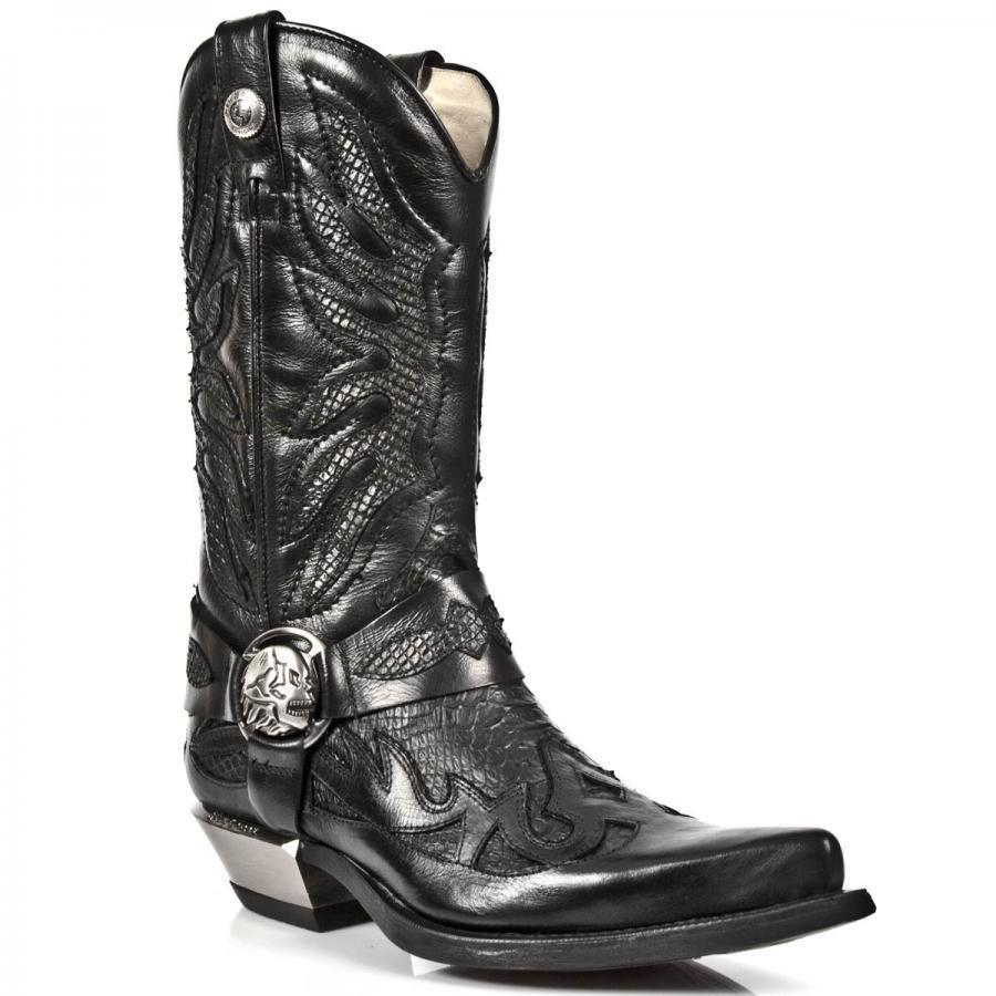 Bota mujer PIEL Tejana NEW ROCK Western Cowboy leather boot M.7991-S2