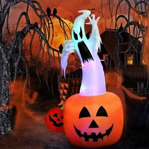 Inflatable-Pumpkin-Airblown-Blow-Up-Light-Up-Halloween-Holiday-Outdoor-Yard-Deco