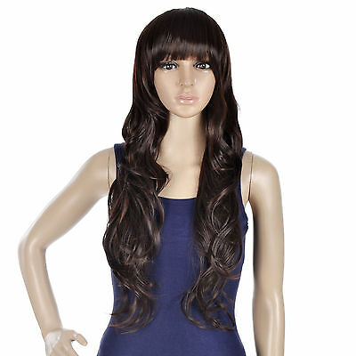 Halloween Style Long Curly Cosplay Wigs women's Girl Hair Full Wig