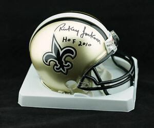 43eabe2f92c Rickey Jackson SIGNED New Orleans Saints Mini Helmet +HOF 10 PSA DNA ...