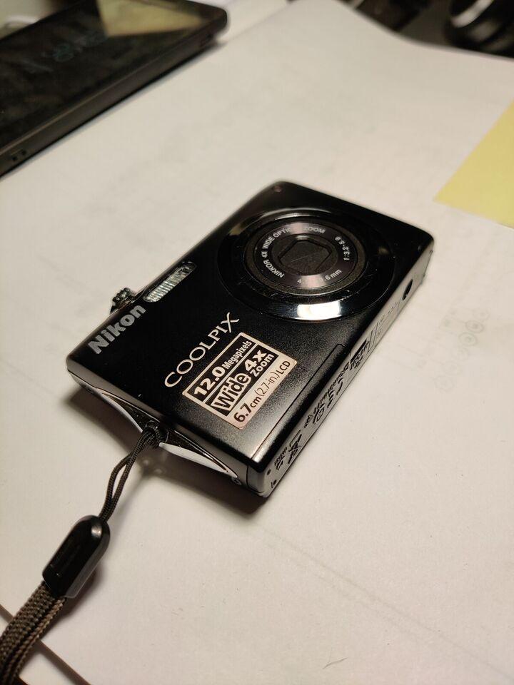 Nikon Coolpix s3000, 12 megapixels, 4 x optisk zoom