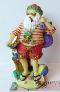 "Aussie Santa Claus  Australia 1997 Vintage 4 1/2"" tall Figurine Decoration"