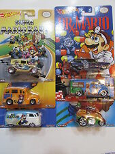 HOT WHEELS SUPER MARIO SET OF 6 DAIRY DELIVERY SCHOOL BUSTED VOLKSWAGEN COOL ONE