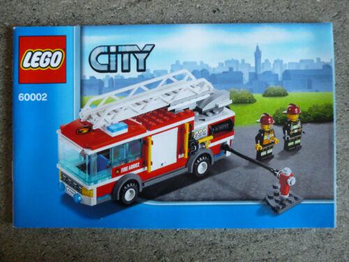 1 x LEGO ® 60002 Instructions De Montage aucun Set Pompiers Véhicule Camion Neuf.