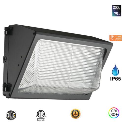 MW Lighting 75W LED Wall Pack Commercial Security Light,5000K 120V-277V 7185lms