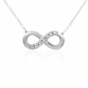 Anhaenger-Unendlichkeit-Gold-750-Diamant-Collier-18K-Weissgold-Brillant-Kette-45cm