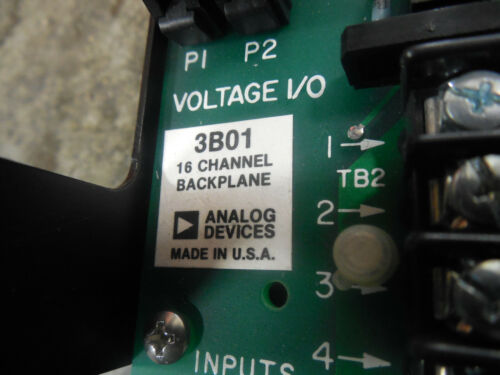 USED Analog Devices 3B01 16 Channel Backplane Module