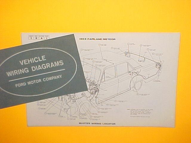 1963 FORD FAIRLANE 500 MERCURY METEOR S-33 FACTORY ...