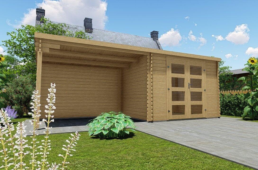 gartenhaus flachdach 28mm ger tehaus holz anbaudach 3x2 4 3m harz28237 ohneboden ebay. Black Bedroom Furniture Sets. Home Design Ideas