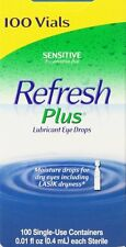 Refresh Plus Lubricant Eye Drops, Moisturizing Relief, 100 Single Vials Dry eyes